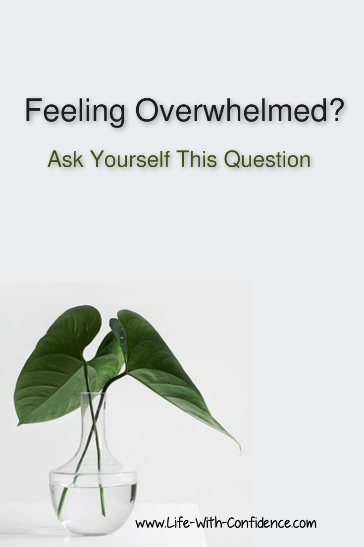 Feeling Overwhelmed? Then ask yourself these questions.
