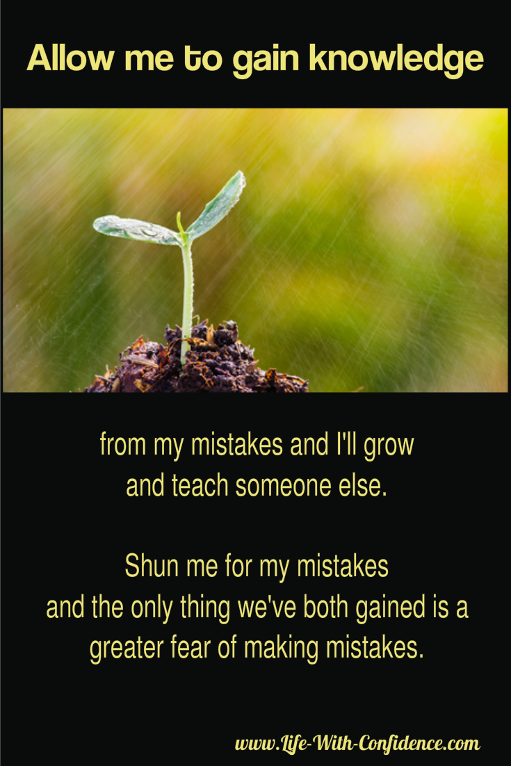 Gain wisdom from mistakes