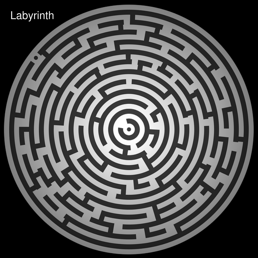 photo of a labyrinth