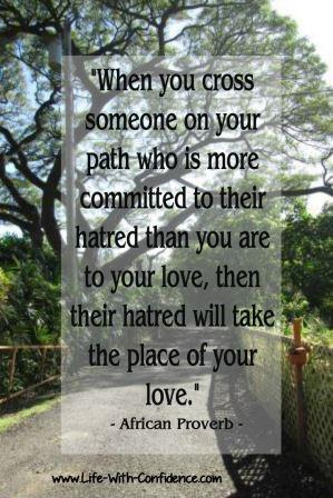 Path - Are you more commited to positive thoughts or will you let the negative people influence your thoughts?