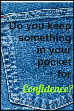 Do you keep something in your pocket for confidence and good luck?