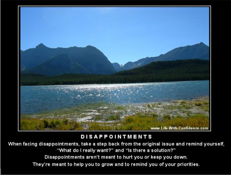 Dealing With Disappointments